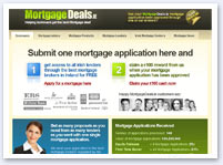 Sample website - mortgages and loans